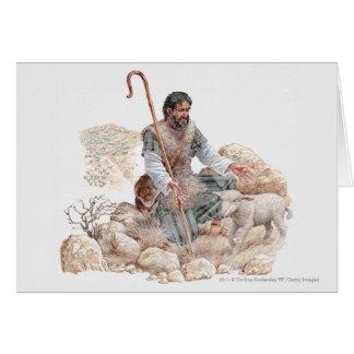 Illustration des Schäfers seine verlorenen Schafe Karte
