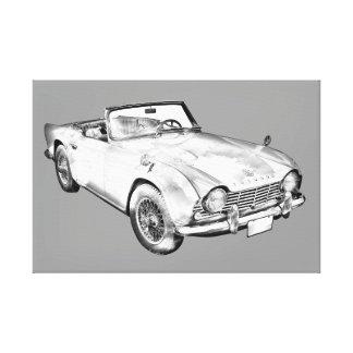 Illustration des Sport-Autos Triumphs Tr4 Gespannter Galerie Druck