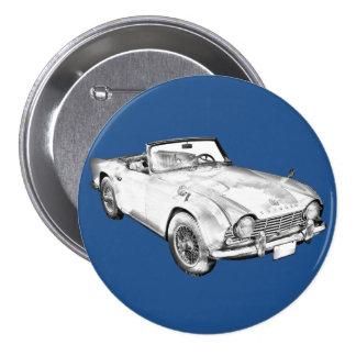 Illustration des Sport-Autos Triumphs Tr4 Runder Button 7,6 Cm