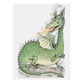 Illustration eines Drachespratzenfeuers Postkarte