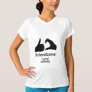 Illustration Friendzone waagerecht ausgerichtete T-Shirt