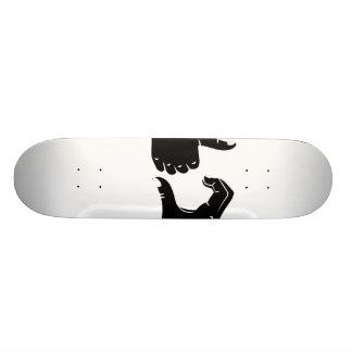 Illustration Friendzoned übergibt Form Bedrucktes Skateboard