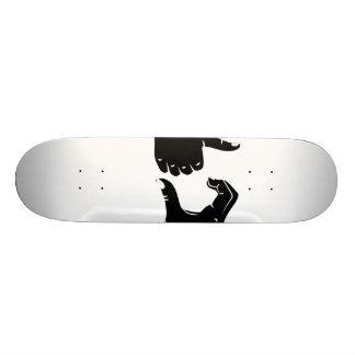 Illustration Friendzoned übergibt Form Individuelles Skateboard