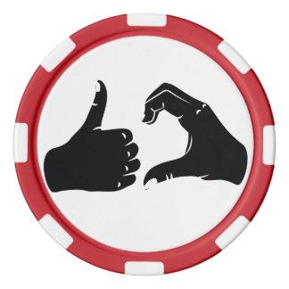 Illustration Friendzoned übergibt Form Pokerchips