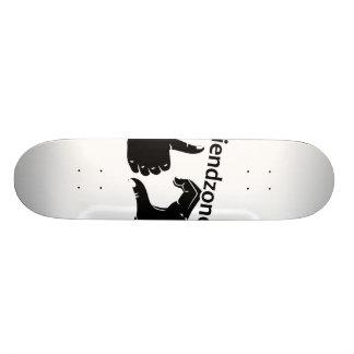 Illustration Friendzoned übergibt Form Skateboarddeck