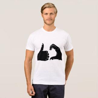 Illustration Friendzoned übergibt Form T-Shirt