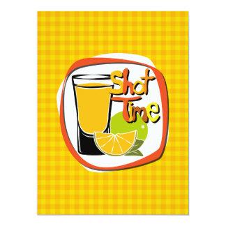 """Illustration geschossen mit Zitrone """"Schuss-Zeit """" 16,5 X 22,2 Cm Einladungskarte"""
