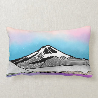 Illustration Mt Fuji Japan Landschafts Lendenkissen