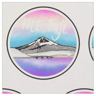 Illustration Mt Fuji Japan Landschafts Stoff