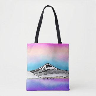Illustration Mt Fuji Japan Landschafts Tasche