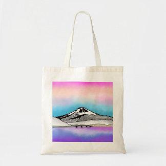 Illustration Mt Fuji Japan Landschafts Tragetasche