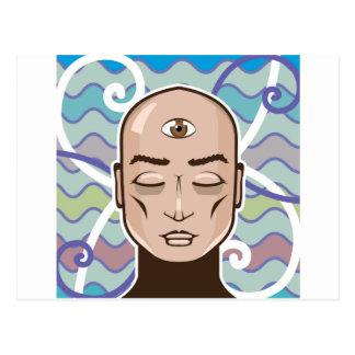 Illustration Vektor des dritten Auges Postkarte
