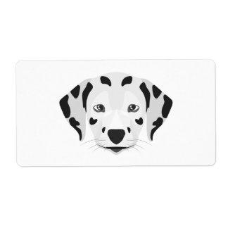 Illustration verfolgt Gesicht Dalmatiner