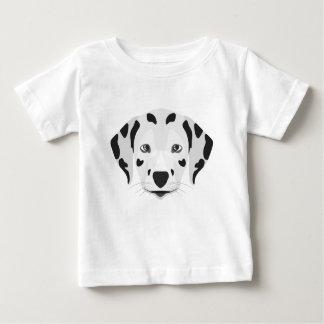 Illustration verfolgt Gesicht Dalmatiner Baby T-shirt