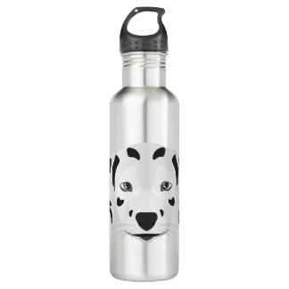 Illustration verfolgt Gesicht Dalmatiner Edelstahlflasche