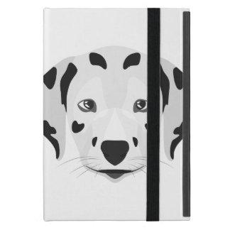 Illustration verfolgt Gesicht Dalmatiner iPad Mini Etuis