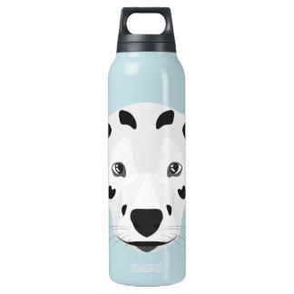 Illustration verfolgt Gesicht Dalmatiner Isolierte Flasche