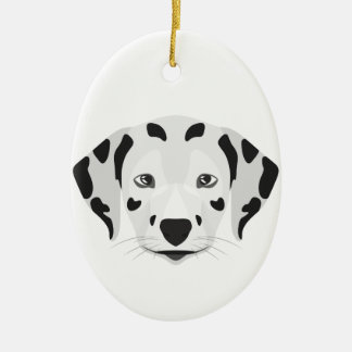 Illustration verfolgt Gesicht Dalmatiner Keramik Ornament