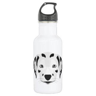 Illustration verfolgt Gesicht Dalmatiner Trinkflasche