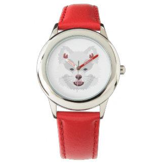 Illustration verfolgt Gesicht finnisches Lapphund Armbanduhr