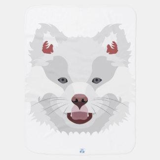 Illustration verfolgt Gesicht finnisches Lapphund Kinderwagendecke
