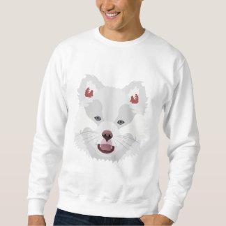 Illustration verfolgt Gesicht finnisches Lapphund Sweatshirt