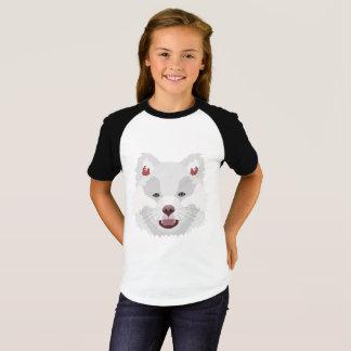 Illustration verfolgt Gesicht finnisches Lapphund T-Shirt