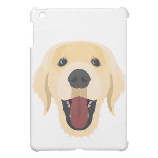 Illustration verfolgt Gesicht goldenes Retriver iPad Mini Hülle