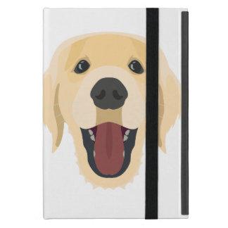 Illustration verfolgt Gesicht goldenes Retriver iPad Mini Schutzhüllen
