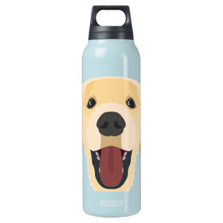 Illustration verfolgt Gesicht goldenes Retriver Isolierte Flasche