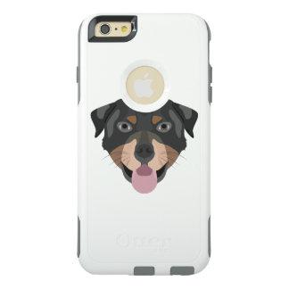 Illustration verfolgt Gesicht Rottweiler OtterBox iPhone 6/6s Plus Hülle