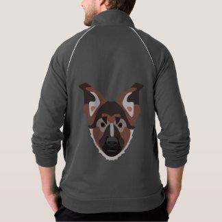 Illustration verfolgt Gesicht Schäferhund Jacke