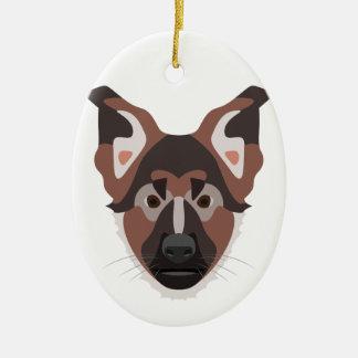 Illustration verfolgt Gesicht Schäferhund Keramik Ornament