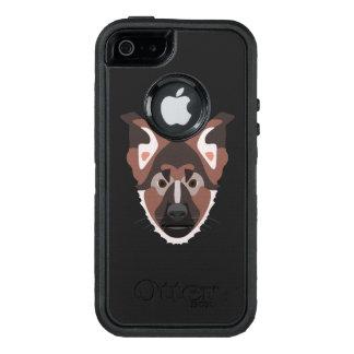 Illustration verfolgt Gesicht Schäferhund OtterBox iPhone 5/5s/SE Hülle