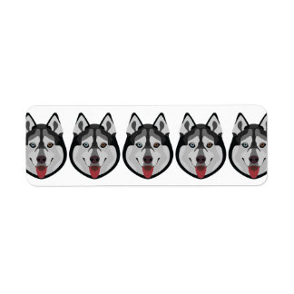 Illustration verfolgt Gesicht sibirischen Husky