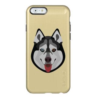 Illustration verfolgt Gesicht sibirischen Husky Incipio Feather® Shine iPhone 6 Hülle