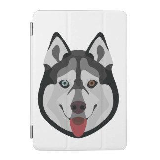 Illustration verfolgt Gesicht sibirischen Husky iPad Mini Hülle