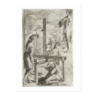 """Illustration Vignolas """"von den zwei Regeln von Postkarte"""