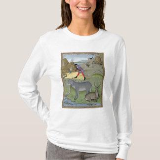 Illustration vom 'Buch von einfachem T-Shirt