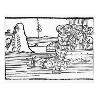 Illustration 'von der Reise von St. Brendan Postkarte