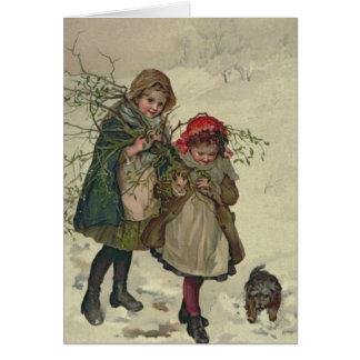 Illustration von der Weihnachtsbaum-Fee, Kneipe. Karte