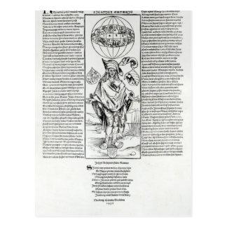 Illustration von Syphilis, 1496 Postkarte