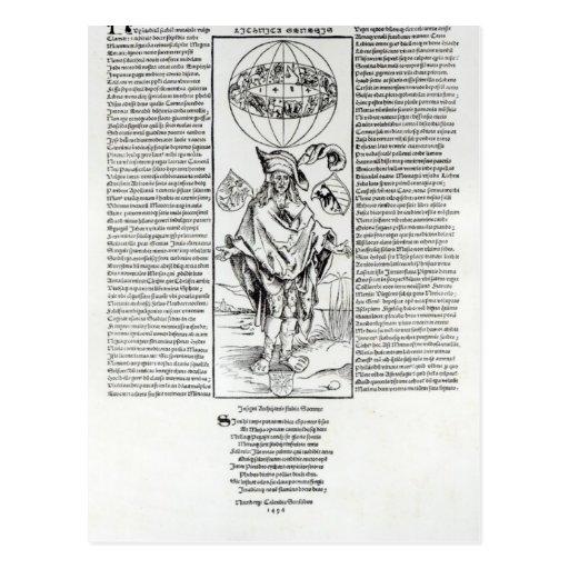 Illustration von Syphilis, 1496 Postkarten