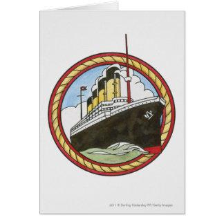 Illustration von titanischem karte