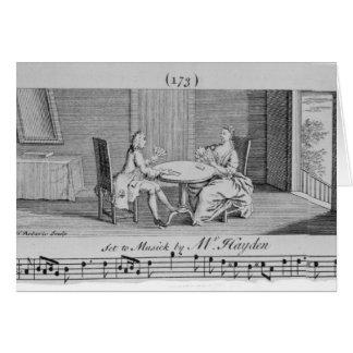 Illustration zu den Noten durch Joseph Haydn Karte