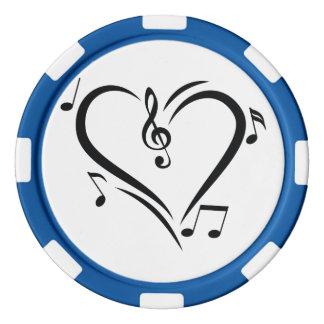 Illustrationclef-Liebe-Musik Poker Chip Set