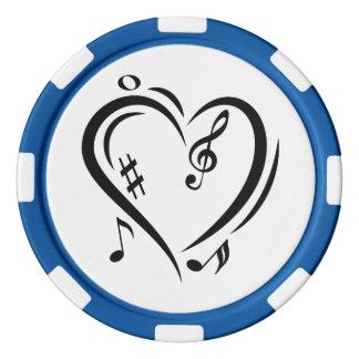 Illustrationclef-Liebe-Musik Pokerchips