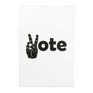 Illustrations-Abstimmung für Frieden Acryldruck