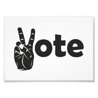 Illustrations-Abstimmung für Frieden Fotodruck
