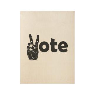 Illustrations-Abstimmung für Frieden Holzposter